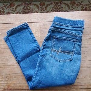 Levi's Denizen Modern Pull-On Crop Blue Jeans - 8